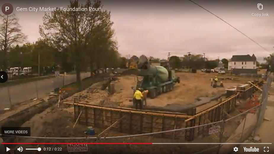 Time-lapse video of concrete pour