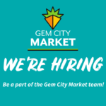 we're hiring. Be a part of the Gem City Market team!